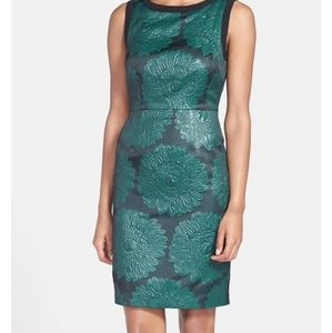 Trina Turk Avari Embossed Holiday Sheath Dress